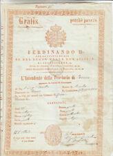 DD492-PASSAPORTO-FERDINANDO II RE DELLE 2 SICILIE 1852