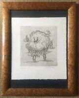 Vintage Engraving Hunters By Woods Trees Limited Edition Signed Mounted Framed