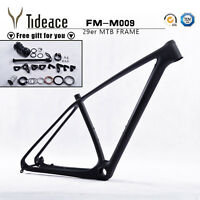 29er Full Carbon MTB Bike Frame OEM Bicycle Frameset 135*9 / 142*12mm Thru Axle