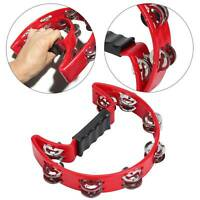 UK in Box Red or RED Half Moon Percussion Tambourine Shaker Instrument Toy