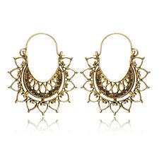 Boho Geometric Women Square Round Dangle Drop Hook Ear Hoop Earrings Jewelry
