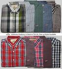 Hollister Mens Long Sleeve Button Check Plaid Paisley Collared Shirt S M L XL