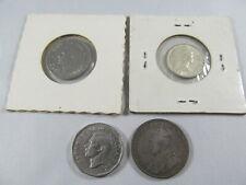 4 Canadian coins Canada lot, 1918 quarter, 1941 nickel, 1950 nickel, 1962 dime