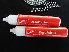 Decopointer Perlenmaker kristall 2x30ml Glas Stoff Farbe Textil T-Shirt Deko