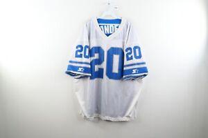 Vtg 90s Starter 54 2XL Detroit Lions Barry Sanders Reversible Football Jersey
