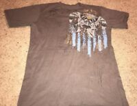 MONARCHY T shirt Los Angeles Mens Beige Gray LARGE Charlie Carnage Rise Above