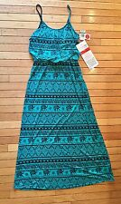 w.f. Women's Size L New With Tags Green & Black Sundress