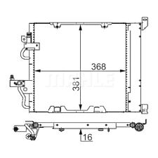 1 Condenseur, climatisation MAHLE AC 376 000S convient à OPEL VAUXHALL HOLDEN