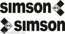 Aufklebersatz Schriftzug SIMSON SR50 Roller DDR Tankaufkleber Aufkleber AN1635