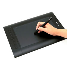 Huion H610 Pro 10x6.25 Art Graphics Drawing Tablet Panel Pad Cordless Pen Hotkey