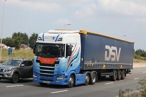 Colour photograph truck photo CUTTS TRANSPORT SCANIA FX70UGL