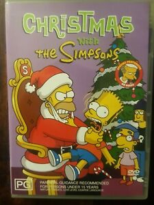Christmas With The Simpsons- 5 Episodes   DVD R4  LIKE NEW   FREE POST