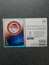 PANINI CHAMPIONS LEAGUE 2011/12 NR. 379 BADGE OLYMPIAKOS FC