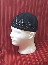 Black handmade cotton crochet men's cap hat Style beanie scull KUFI anySZ SJS m3