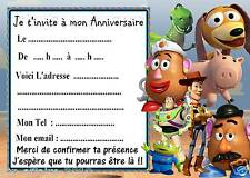 5 cartes invitation anniversaire  toy story  02