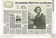Coupure de presse Clipping 1980 (2 pages) Madame Emma Bovary