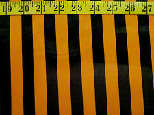 BLACK & ORANGE STRIPES HALLOWEEN COSTUME  100% POLYESTER FABRIC BY THE 1/2 YARD