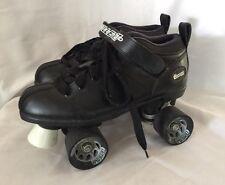 Chicago Bullet Mens Speed Skate Size 8 Black Roller Skates