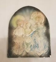 Alice Cranston Fenner Art Plaque Chalkware 3D Relief Praying Girls Halos 1946