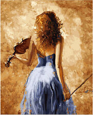 Diy Oil Painting Paint by Numbers Kit for Adult Kids beginner A Woman Of  Violin