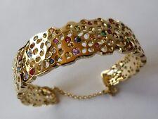 Seulement sur commande: Bracelet en or 18 ct, saphir, rubis, émeraude, tourmalin