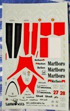 Decal 1/43 TAMEO KITS MCLAREN MARLBORO MP4/5B 1990 BERGER SENNA CARTOGRAF