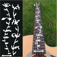 Silver Tree Inlay Sticker Fretboard Guitar Neck DIY Marker for Bass Ukulele
