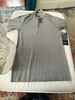 Men's Grey Lululemon Metal Vent Tech Polo XS * WITH TAGS! * Never Worn