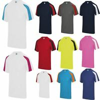 AWDIS Contrast Cool T Sports Breathable Running Training Top Wickable T-Shirt
