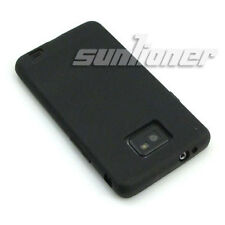 For Samsung Galaxy S2,S ii,i9100 Black Matte Gel TPU Case Skin Cover