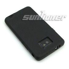 For Samsung Galaxy S2,S ii,i9100 Black Matte Gel TPU Case Skin Cover