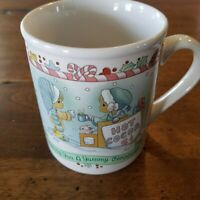 Precious Moments 1996 Vtg Enesco Wishing You a Yummy Christmas Coffee Mug