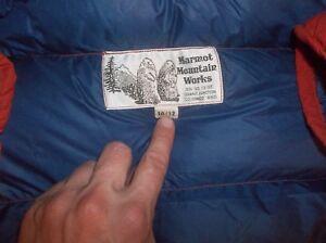 Marmot Warm II Goose Down Vintage Mountain Parka Jacket Coat Puffer USA Made Red