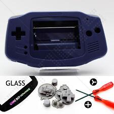 Caparazón Morado & Limpiador Cristales Nintendo Game Boy Advance GBA Carcasa/