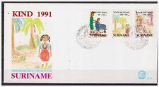 Surinam / Suriname 1991 FDC 151 Kinder child kinder enfent wheelchair rollstuhl