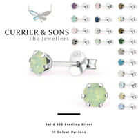 LA CRYSTALE 925 Sterling Silver Round Stud Earrings with SWAROVSKI® Elements 4mm