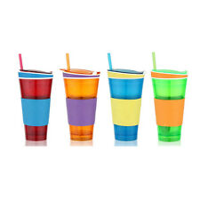 2in1 Fast Food Cup Water And Food Snack Cup Can Carry Snack Go Anywhere >