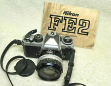 NIKON FE2 35mm SLR Film Camera w/50mm f/1.4 NIKKOR S.C. Lens & IB.  BEAUTIFUL!