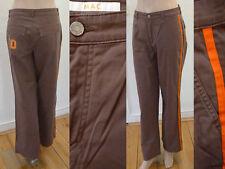 MAC Hose Jeans Damen Casual Stil Seitenstreifen Stretch Braun Orange Gr 36 Top