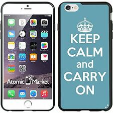 Turquoise Keep Calm and Carry On For Iphone 6 Plus 5.5 Inch Case Cover