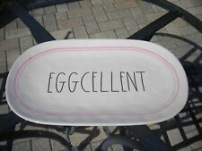 Rae Dunn Magenta Brand EGGCELLENT Egg Serving Platter Tray Dish Easter Pink