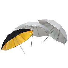 """Umbrella DynaSun 3x UR02 43"""" White Silver Gold Black Studio Diffuser Reflective"""