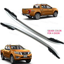 Roof Rail Bar Silver 2 Pc For Nissan Np300 Navara Pickup 4 Door 2012 13 14 15 17