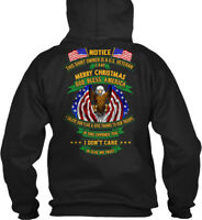 Us Veteran , Vietnam - Notice This Shirt Owner Is A Gildan Hoodie Sweatshirt