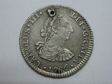 1786 PR CHARLES III 1/2 REAL BOLIVIA POTOSI HALF REAL SPAIN SPANISH