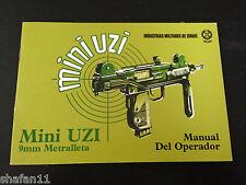 Mini Uzi Metralleta Original IMI Manual del Operador in SPANISH