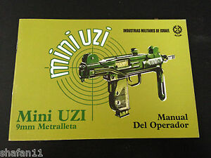 Mini Uzi Metralleta Original IMI Manual del Operador in SPANISH