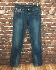 LA Idol Women's JR Jeans Medium Wash Skinny Embellished Jeweled Stretch Size 7