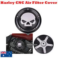 Black Motorcycle Deep CNC Skull Air Filter Cleaner Cover Harley 500 750 XG 15-17