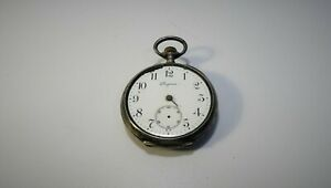 LONGINES - Watch gousset Onion Hunter Silver Deb Twentieth Pocket Watch
